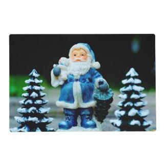 Santa en azul salvamanteles