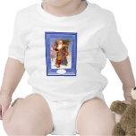 Santa en azul trajes de bebé