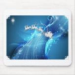 Santa en BlueWave Tapetes De Raton