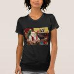 Santa en casa - Whippet 7 - Santa Camiseta