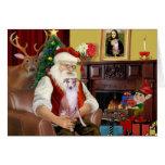 Santa en casa - Whippet 7 - Santa Felicitaciones