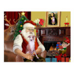 Santa en casa - Whippet 7 - Santa Postal