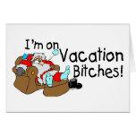 Santa en dormir de las vacaciones felicitación