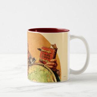Santa en el globo tazas de café