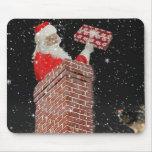 Santa en el mousepd de la chimenea tapete de raton