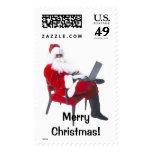 Santa en el ordenador portátil 1lrg sellos
