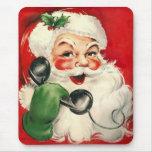 Santa en el teléfono alfombrilla de ratón
