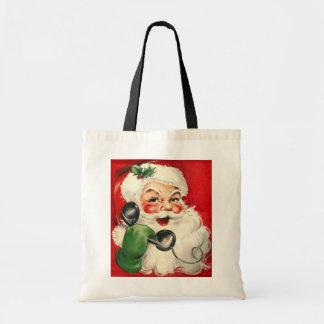 Santa en el teléfono bolsas