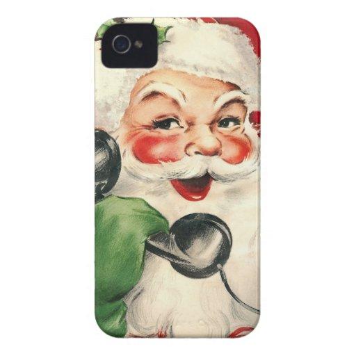 Santa en el teléfono carcasa para iPhone 4 de Case-Mate
