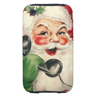Santa en el teléfono iPhone 3 tough coberturas