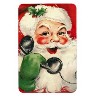Santa en el teléfono imanes flexibles