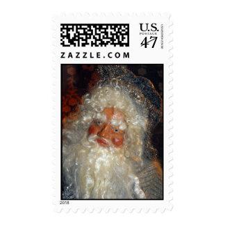 Santa en franqueo del taller sello
