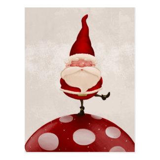 Santa en hongo postales