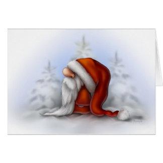 Santa en la nieve felicitaciones