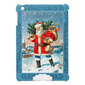 Santa en la nieve iPad mini protectores