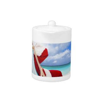 Santa en la playa