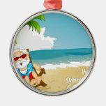 Santa en la playa, Santa el vacaciones Adorno