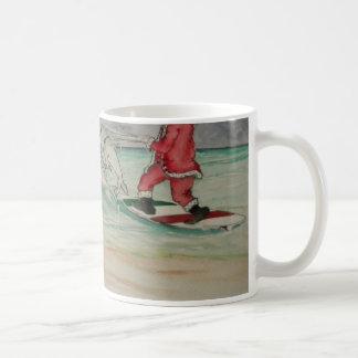 Santa en la taza del Caribe