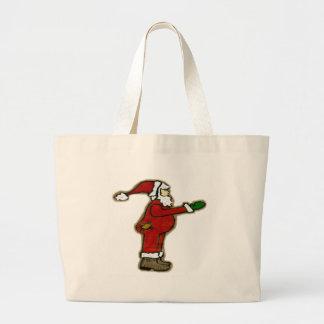 Santa en pijamas bolsa de mano