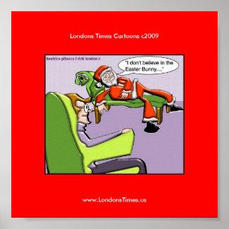 Santa en posters divertidos del navidad de la tera
