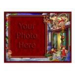 Santa en su marco de la manera postal