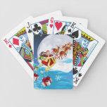 Santa en su trineo baraja de cartas