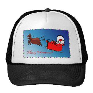 Santa en su trineo gorra