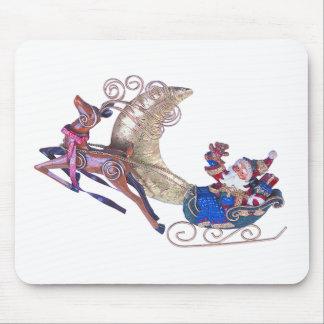Santa en su trineo mousepads