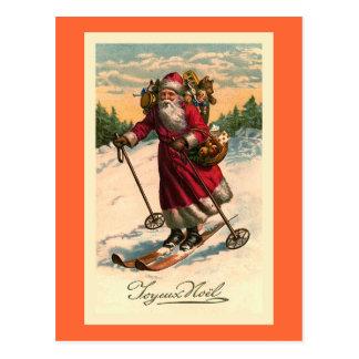 """""""Santa en tarjeta del francés del vintage de los e Postal"""