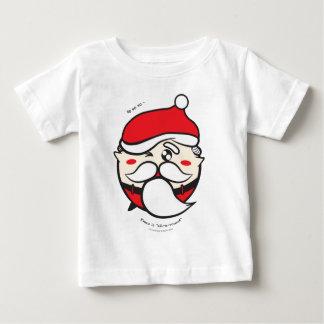 """Santa en """"todo-uno-redondo-series"""" por el estudio playera de bebé"""