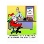 Santa en una oficina de empleo de la calefacción y postales