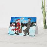 "Santa encounters Hasidic Jew Holiday Card<br><div class=""desc"">Interfaith Holiday Card</div>"