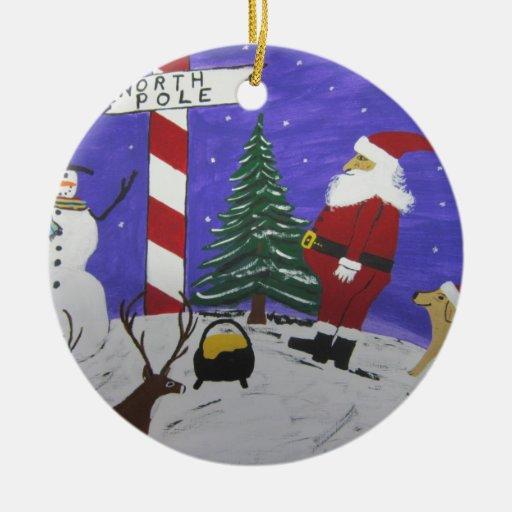Santa encuentra la mina de oro de A Ornamento Para Arbol De Navidad