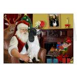 Santa-Engish Springer 7 Greeting Card