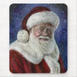 Santa entre las estrellas tapetes de raton