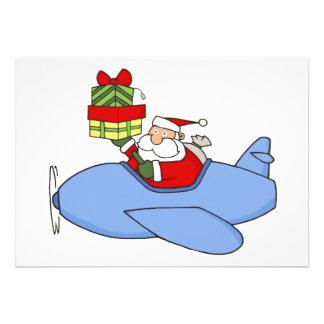 Santa entrega presentes en aeroplano