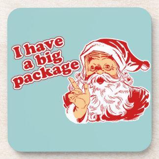 Santa es alegre posavaso