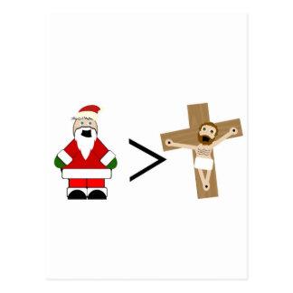 Santa es mayor que Jesús Postales
