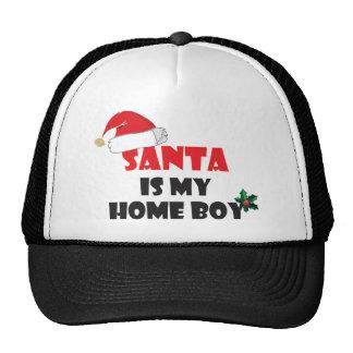 Santa es mi traje del navidad del muchacho casero gorros bordados