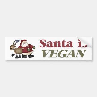 Santa es pegatina para el parachoques del vegano pegatina de parachoque