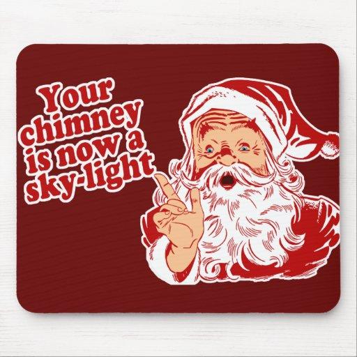 Santa es tal graso alfombrillas de ratones