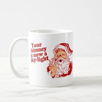 Santa es tal graso taza básica blanca