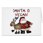 Santa es tarjeta de Navidad del vegano