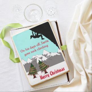 Santa es una galleta del gigante del escalador de