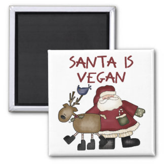 Santa es vegano imán para frigorifico