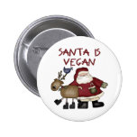 Santa es vegano pin