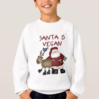 Santa es vegano remeras