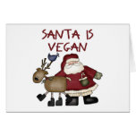 Santa es vegano tarjetas