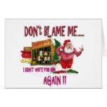 Santa está en el chiste 2012 de la elección de la  tarjeta