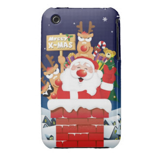 Santa está viniendo a su Iphone. Tome por favor iPhone 3 Case-Mate Coberturas
